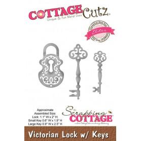 Dies Cadenas et Clés - CottageCutz - Scrapping Cottage Dies Victorian Lock w/ Keys