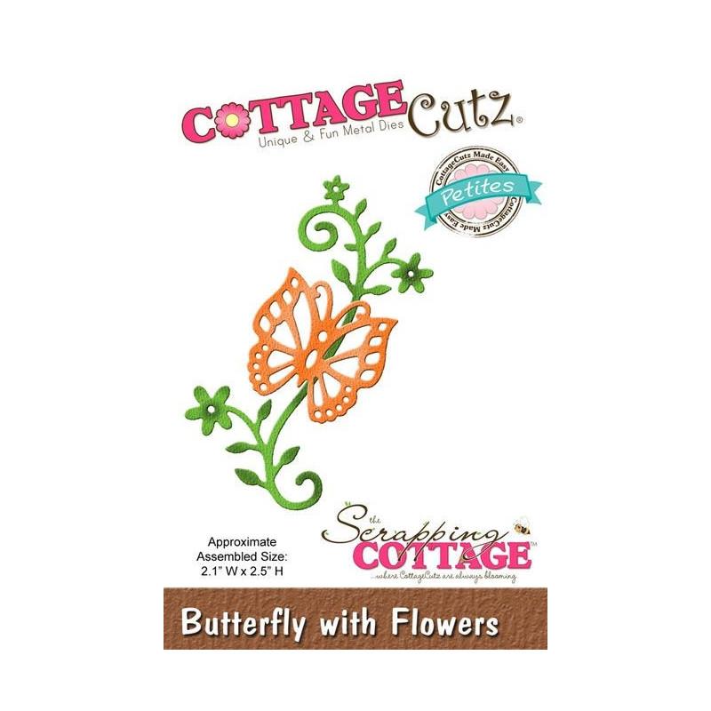 Dies Papillon Et Fleurs Cottagecutz Scrapping Cottage