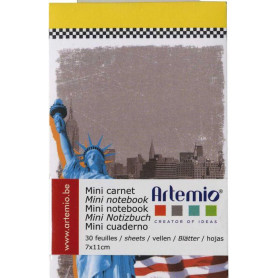 Mini carnet 7x11 cm New-York - Artemio
