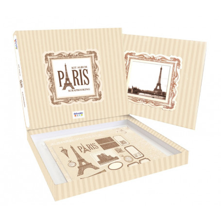 Kit scrapbooking Album Paris - Artémio