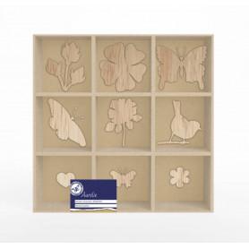 Set de mini silhouettes en bois Jardin botanique - Aurelie