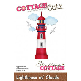 Die Phare - CottageCutz - Scrapping Cottage Die Lighthouse with clouds