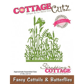 Die Fancy Cattails & Butterflies - CottageCutz - Scrapping Cottage