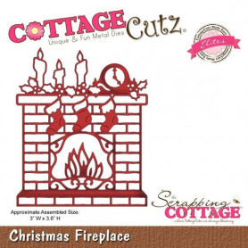 Die Christmas Fireplace - CottageCutz - Scrapping Cottage