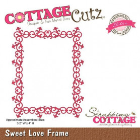 Die Sweet Love Frame - CottageCutz - Scrapping Cottage
