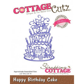 Die Happy Birthday Cake - CottageCutz - Scrapping Cottage