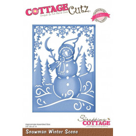 Die Snowman Winter Scene - CottageCutz - Scrapping Cottage