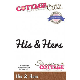 Die Expressions His & Hers - CottageCutz - Scrapping Cottage