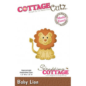 Die Lionceau - CottageCutz - Scrapping Cottage Die Baby Lion