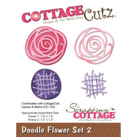 Dies Doodle Flower Set 2 - CottageCutz - Scrapping Cottage