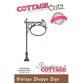 Die Vintage Shoppe Sign - CottageCutz - Scrapping Cottage