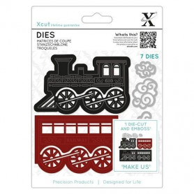 Dies Christmas Train 7 pc - Xcut