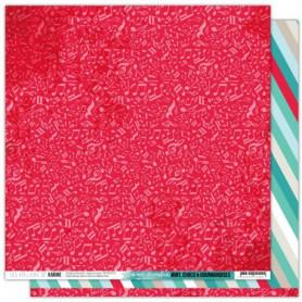 Papier 30x30 Une note de couleur 1f - Mint, choco et gourmandises - Les ateliers de Karine