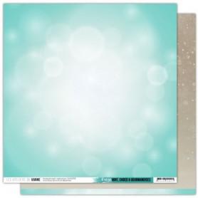 Papier 30x30 Il neige 1f - Mint, choco et gourmandises - Les ateliers de Karine