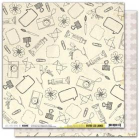 Papier 30x30 Dans mon atelier 1f - Entre les lignes - Les ateliers de Karine