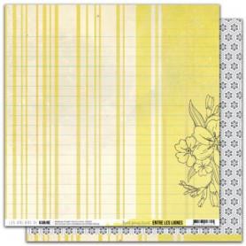 Papier 30x30 Trait pour trait 1f - Entre les lignes - Les ateliers de Karine