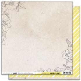 Papier 30x30 Jardin secret 1f - Entre les lignes - Les ateliers de Karine