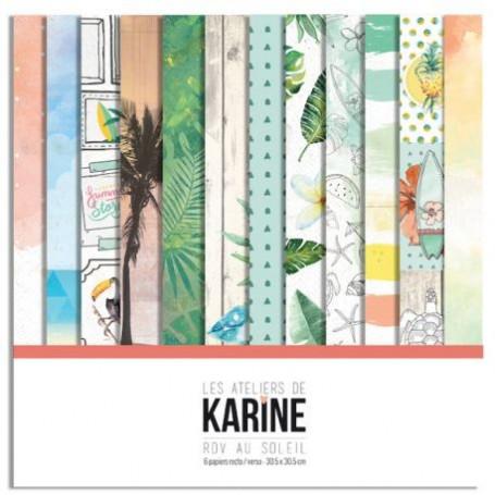 Set de papier 30x30 RDV au soleil 6f - Les ateliers de Karine
