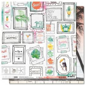 Papier 30x30 Programme des vacances 1f - RDV au soleil - Les ateliers de Karine