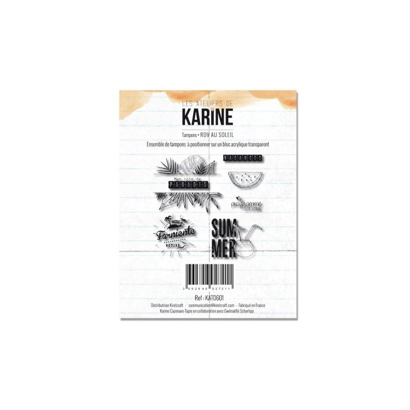 Tampons RDV au soleil - Les ateliers de Karine