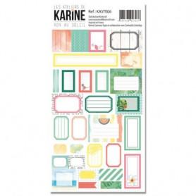 Stickers Etiquettes RDV au soleil - Les ateliers de Karine