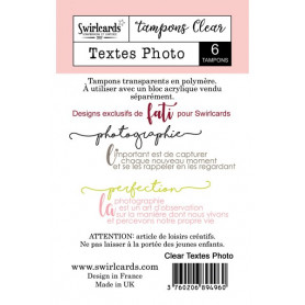 Tampon Textes Photo – Swirlcards