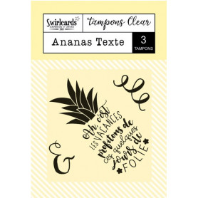 Tampons Ananas Texte – Swirlcards