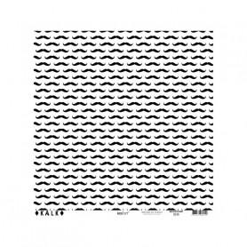 Papier calque 30x30 moustache noir 1f – Kesi'art