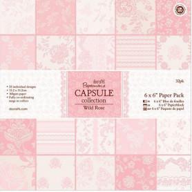 Set de papier 15x15 Wild Rose (32f) – Capsule Docrafts Papermania