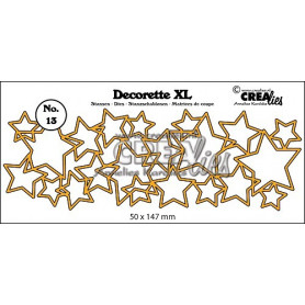 Die Decorette XL 13 Interlocking stars - Crealies