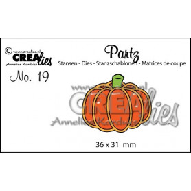 Partz die no. 19 Pumpkin - Crealies