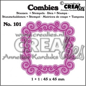 Combies Die + Tampon Frame A no 101 - Crealies