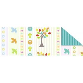 Papier A4 Eden 1 croix colombes ichthus arbres 1f - Ursus