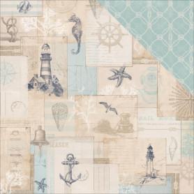Papier 30x30 Ahoy 1f – Collection High Tide Kaisercraft