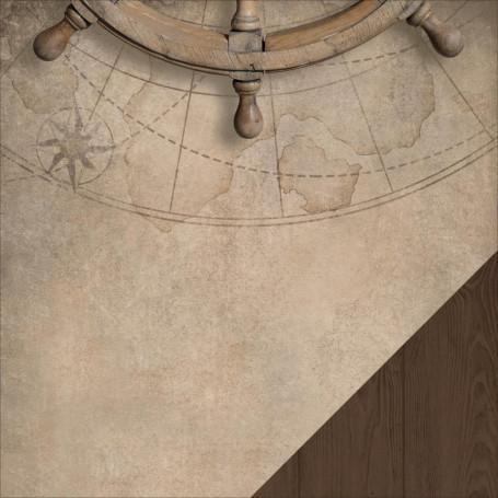 Papier 30x30 Captain's Wheel 1f – Collection High Tide Kaisercraft