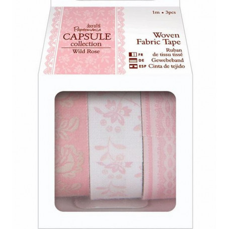 Masking Tape en tissu (3pcs) Wild Rose Capsule Collection – Docrafts Papermania