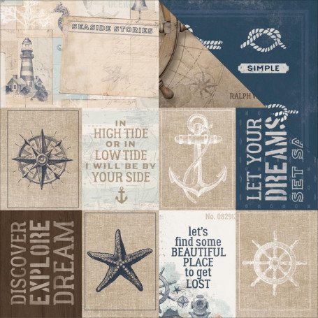 Papier 30x30 Set Sail 1f – Collection High Tide Kaisercraft