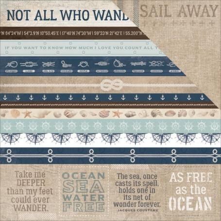 Papier 30x30 Starboard 1f – Collection High Tide Kaisercraft