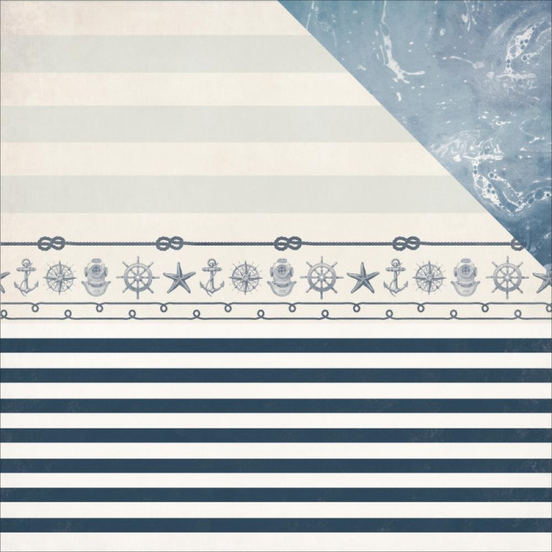 Papier 30x30 Sailor 1f – Collection High Tide Kaisercraft