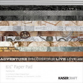 Set de papier 16,5x16,5 Factory 42 40f – Kaisercraft