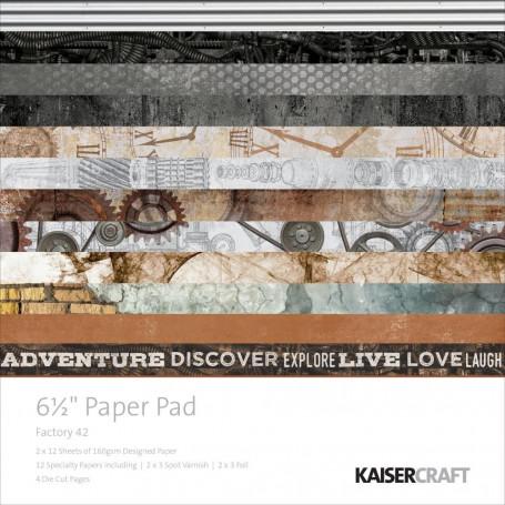 Set de papier 16,5x16,5 Factory 42 40f – Kaisercraft