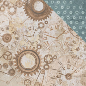 Papier 30x30 Gears & Cogs 1f – Collection Factory 42 Kaisercraft