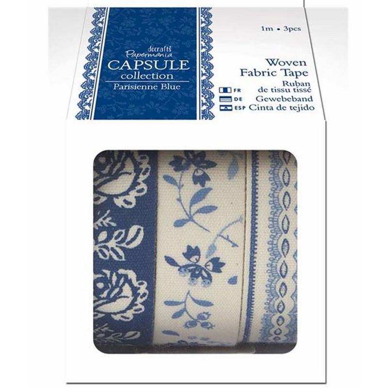 Masking Tape en tissu (3pcs) Parisienne Blue Capsule Collection – Docrafts Papermania