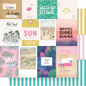 Papier 30x30 Palm Spring 1f – Collection Oasis Crate Paper