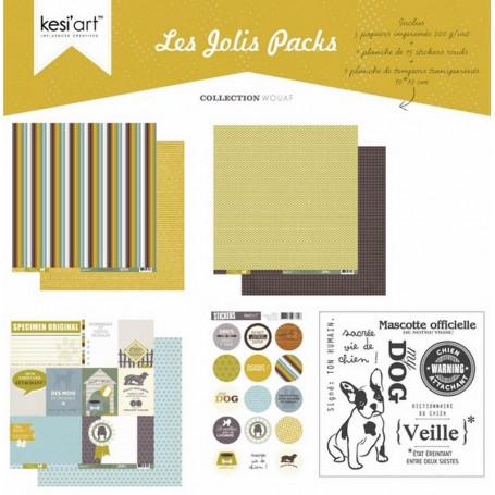 Joli pack Wouaf – kit de scrapbooking – Kesi'art