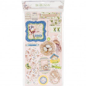 Chipboards Serendipity 50pc - Bo Bunny