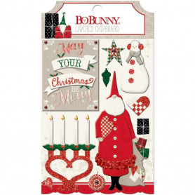 Chipboards 3D Merry & Bright 10pc - Bo Bunny