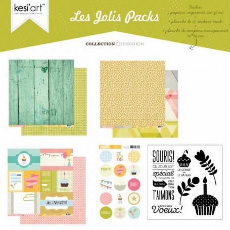 Joli pack Célébration – kit de scrapbooking – Kesi'art