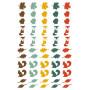 Embellissements epoxy 55 pc Miel et Cannelle - Toga
