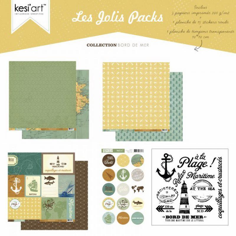 Joli pack Bord de Mer – kit de scrapbooking – Kesi'art